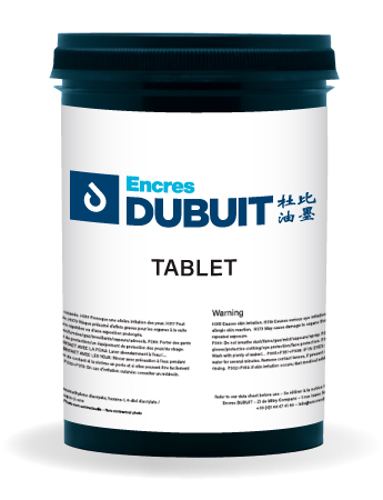 Encres DUBUIT-SCREEN PRINTING-SOLVENT-Tablet