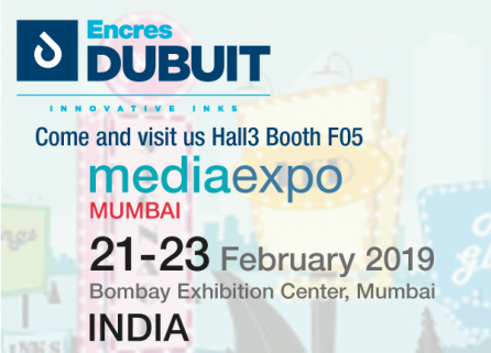 participation Encres DUBUIT media expo 2019 Mumbai